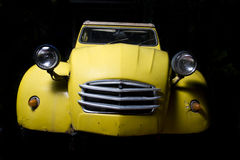 Old Citroen. On a black background Royalty Free Stock Image