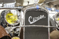 Old Citroen car on static display Stock Image
