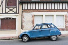 An old Citroen car. Beside the street,France countryside stock photos