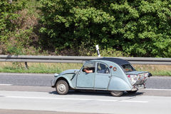 Old Citroen 2CV with boot extension Stock Photography