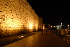 Old City. View of the Old City wall in jerusalem looking towards the Jaffa gate Royalty Free Stock Images