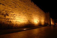 Old City. View of the Old City wall in jerusalem looking towards the Jaffa gate Stock Photos