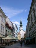 Old city. Bratislava-old part ot the city Stock Photo
