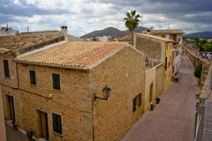 Old city. View from to of a old city on Majorca Royalty Free Stock Image