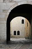 Old City. Cobbled street under ancient arch in the Old City, Jerusalem Royalty Free Stock Image