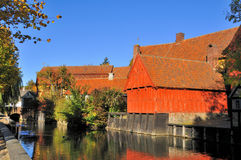 The old City of Aarhus. Stock Image