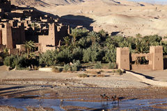 Old city. An ancient city of Ait Ben Hadu in morocco Royalty Free Stock Photos