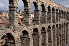 Old city and aquaduct Stock Photo