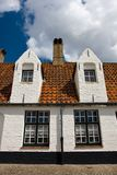 Old city architecture, Brugge. Stock Photos