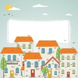 Old city background. Old city background with place for your text royalty free illustration