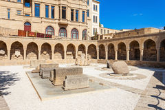 Old City in Baku. The Arcades and Religious Burial Place in the Old City in Baku, Azerbaijan. Inner City is the historical core of Baku and UNESCO World Heritage Royalty Free Stock Image