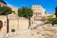 Old City in Baku. Haji Bani Hammam, Arcades and Religious Burial Place in the Old City in Baku, Azerbaijan. Inner City is the historical core of Baku and UNESCO Royalty Free Stock Photos
