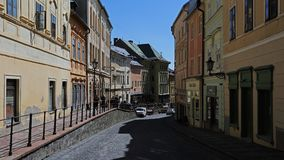 Old city of Banska Stiavnica, Slovakia Royalty Free Stock Images