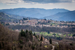 The old city of Barga in Italy. View of the old city of Barga located in the heart of Tuscany Stock Photos
