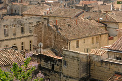 Old city of Beaucaire in Provence Stock Photos