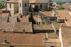 Old city of Beaucaire in Provence Royalty Free Stock Image