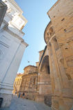 The OLd City of Bergamo. At the streets of the Old Town. Bergamo Royalty Free Stock Image