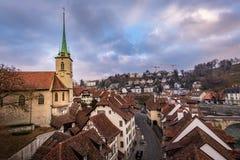 Bern Switzerland. The old city of Bern in Switzerland stock photos