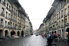 The Old City of Berne In Switzerland - June 2012 Stock Photos