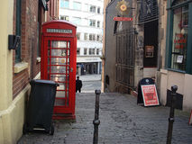 Old City Bristol, passage street. Passage street to an avenue in the Old City of Bristol, England Stock Photo