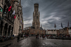 Old City of Brugges in Belgium stock image