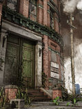 Old city building with stairs. Old abandoned city building with stairs royalty free illustration