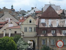 Old city buildings. Buildings in centre of polish city Royalty Free Stock Image