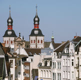 Old city buildings. In the center of Bonn, Germany royalty free stock photography