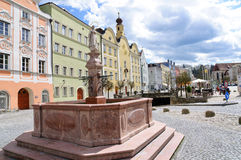 Old City of Burghausen, Germany Stock Photo