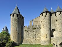 The old city of Carcassonne Stock Photos