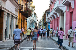 Old city of Cartagena Stock Photography