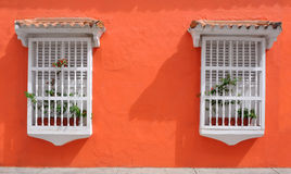 Old City of Cartagena, Colombia. Typical Colonial houses in the Old City of Cartagena, Colombia royalty free stock photos