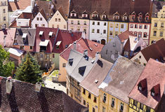 Old city center. Ld city center in czech republic, Loket Royalty Free Stock Photos