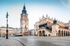 Old city center of Krakow, Poland Royalty Free Stock Image