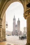 Old city center of Krakow, Poland Stock Image