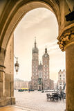 Old city center of Krakow, Poland Royalty Free Stock Photo