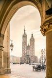 Old city center of Krakow, Poland Royalty Free Stock Photo