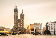 Old city center of Krakow, Poland Royalty Free Stock Photography