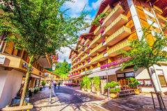 Free Old City Center Of Gstaad Town, Famous Ski Resort In Canton Bern Royalty Free Stock Photography - 81345357