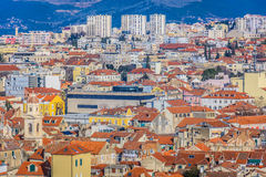 Old city center of Split, european cities. Royalty Free Stock Image
