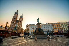 Old city center view in Krakow Stock Images