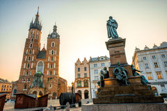 Old city center view in Krakow Royalty Free Stock Photo