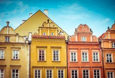 Old city center in Warsaw Stock Photo