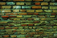 Old city in chiangmai thailand, old corners wall background texture stock photography