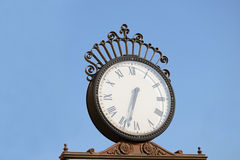 Old City Clock. Classic Old Clock In Bucharest Royalty Free Stock Photo