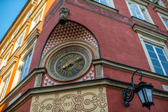 Old city clock in Warsaw Stock Photography