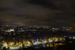 Old city of Cluj-Napoca. Night scene royalty free stock image