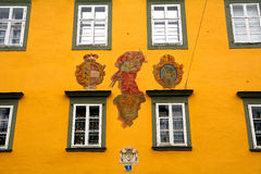 Old city with coat of arms, Klagenfurt, Austria. Old city with coat of arms in Klagenfurt, Austria Stock Photos