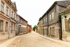 Old City Cobblestone Street Royalty Free Stock Photo