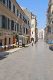 Old city at Corfu island, Greece Stock Image